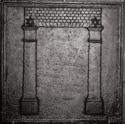Inv.-Nr. 283   Freimaurersymbol  Kaminplatte, xx x xx cm Lothringen, um 1800