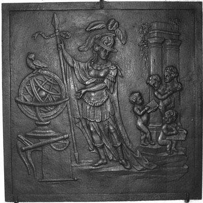 Inv.-Nr. 288   Athene, Kaminplatte 80 x 80 cm, Lothringen, Ende 18. Jh.