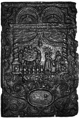 Inv.-Nr. 221   Hochzeit zu Kana, Ofenplatte 38 x 57 cm, Saarland, 1. H. 18. Jh