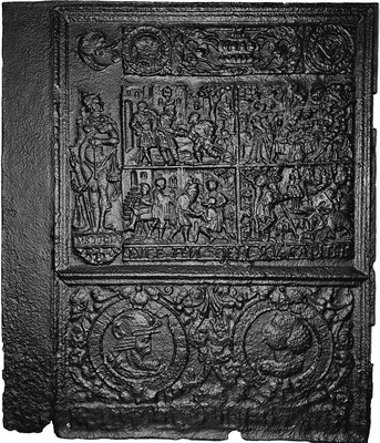 Inv.-Nr. 228   Der Verlorene Sohn, Ofenplatte 77 x 89 cm, Oberhessen, dat. 15__