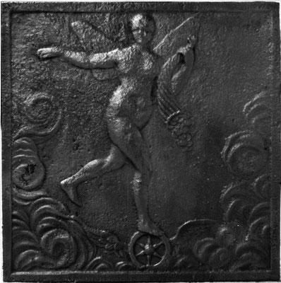 Inv.-Nr. 299   Fortuna, Kaminplatte 60 x 60 cm, Hayange, 2. H. 18. Jh.