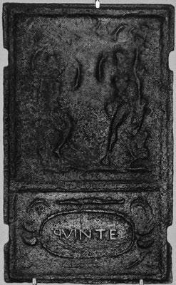 Inv.-Nr. 150   Adam und Eva, Ofenplatte 36 x 60 cm, Quint, ab 1683