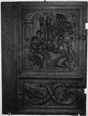 Inv.-Nr. 204   Die Anbetung der Könige, Ofenplatte 55 x 73 cm, Eisenschmitt/Weilerbach (?), ab 1683