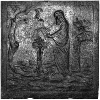 Inv.-Nr. 247   Allegorie des Winters, Kaminplatte xx x xx cm, Lothringen, 1. H. 18. Jh.