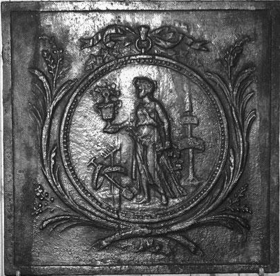 Inv.-Nr. 292   Ceres, Kaminplatte 49 x 48 cm, Lothringen, 18. Jh./19. Jh.