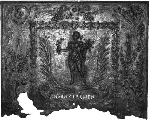 Inv.-Nr. 321   Pomona/Pax, Kaminplatte 80 x .. cm, Neunkirchen, um 1700