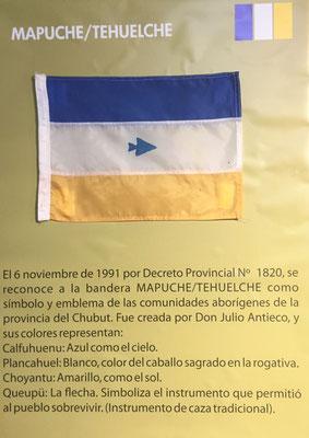 foto scattata nel museo bandiera Mapuche/Tehuelche