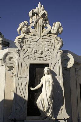 Tomba di Rufina Cambaceres. Scultore Richard Aigner