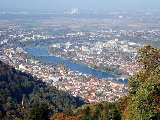 Die Aussicht auf Heidelberg ist ein Genuss