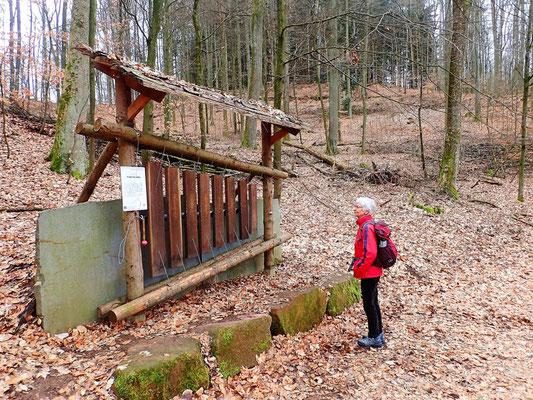 Eine Wald-Marimba pentatonisch gestimmt (mit 5 Tönen)