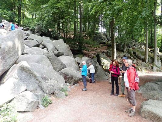 Der Wanderweg kreuzt das Felsenmeer