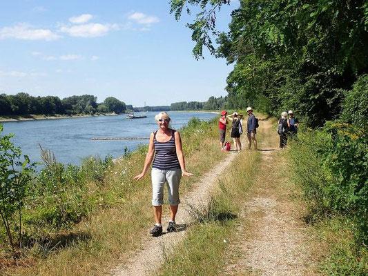 Hier brennt der Planet und wir kürzen den Rheinpfad ab und durchqueren erneut die Insel