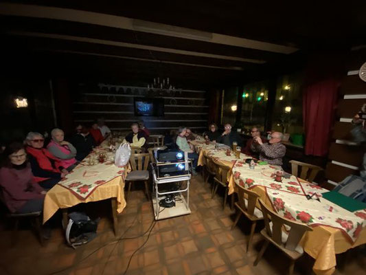 Letzte Abschluss im Gasthaus Krone mit 3D Bildervortrag