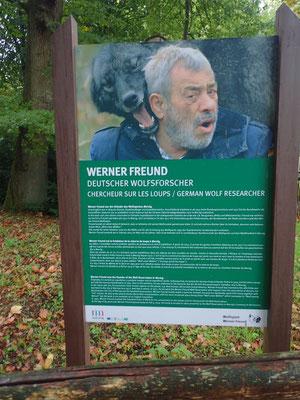 Wener Freund gründete den Wolfspark