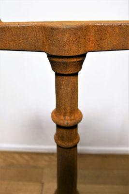 TG6 Tischgestell Guß natürlich korrodiert