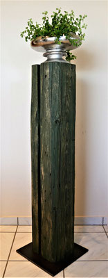 Stehle Tanne grün gefärbt, H 104 cm, Stahlfußplatte 30 x 30 cm, EUR 167,-