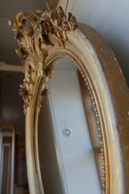 O40-1  Spiegel vergoldet, Set mit O40, H80 x B95cm, EUR 1600,-(Set EUR 4200,-)