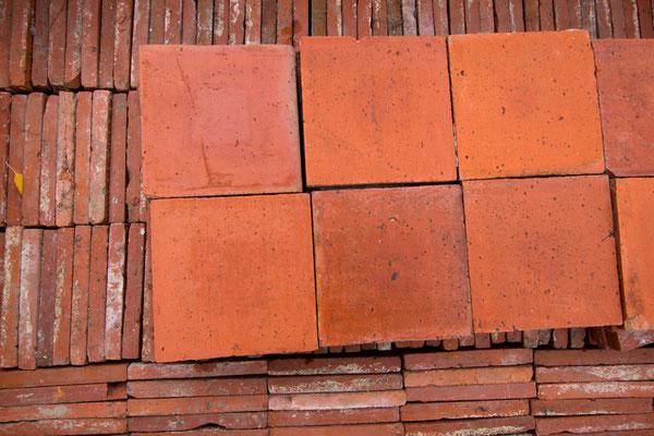 Terrakotta-Fliesen Nr. 2, quadratisch, 200 x 200mm
