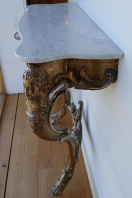 O40 Halbtisch vergoldet, Marmorplatte (Set mit O41), H83 x B85 x T30, EUR 2800,- (Set EUR 4200,-)