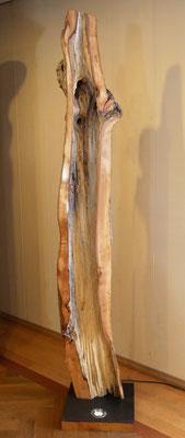 L19 Baum-Lampe Birne, Schnittkante geschliffen und poliert, Sockel mit Metallplatte und integrierter Beleuchtung, H 2070 x B 380x380 mm, EUR 3250,-