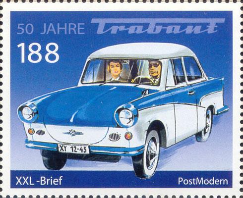 Briefmarke 50 Jahre Trabant Gedenkkarte BRD 2007