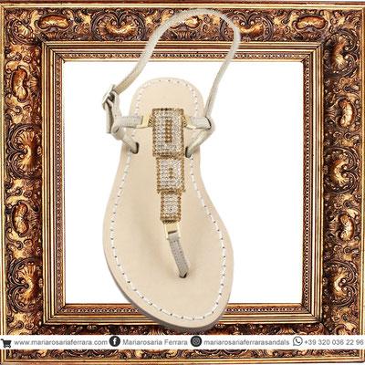 Sandali artigianali modello Dafne Gold
