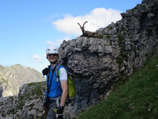 Bei bestem Wetter konnten wir die Walser Dreigipfeltour von der Kanzelwand zur Fiederepasshütte und am nächsten Tag den Mindelheimer Klettersteig begehen. Für Heiko war es sehr Lehrreich und so konnten wir die Lerninhalte Praxisnah vermitteln. Zum Schluss