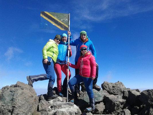 Gipfel Mt. Meru 4.562 m