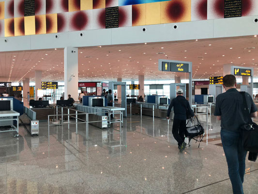 Ankunft am neuen Flughafen in Islamabad