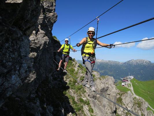 Klettersteig Kanzelwand, Walser Klettersteig, Bergabenteuer Kleinwalsertal, Bergabenteuer Bergschule, Klettersteig Schnupperkurs