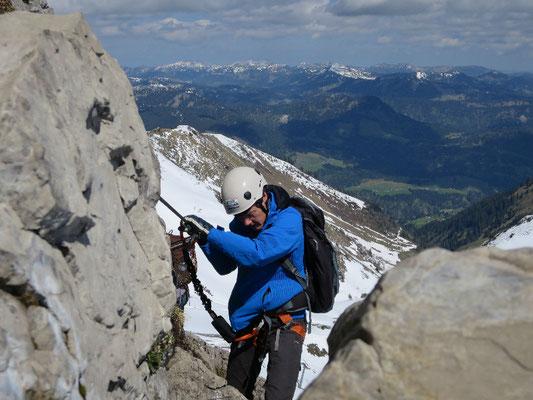 Walser Klettersteig, Klettersteig Kanzelwandbahn, Klettersteige Kleinwalsertal, Klettersteige Nebelhornbahn, Klettersteige Oberstdorf, Bergschule im Kleinwalsertal, Bergschule in Oberstdorf