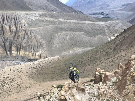 Mustang mit dem Mountainbike, Nepal mit dem Mountainbike