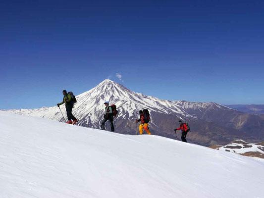 Skitouren Damavand im , Damavand 5.671m, Damavand Iran, Skitour auf den Damavand, Damavand 2018