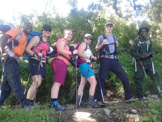 Erstes Ziel; Start am Momella Gate zum Mt. Meru