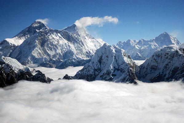 Blick auf Everest und Lhotse