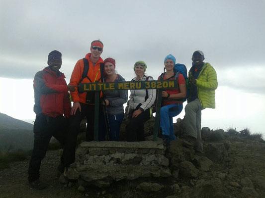 Gipfel kleiner Mt. Meru 3.820 m