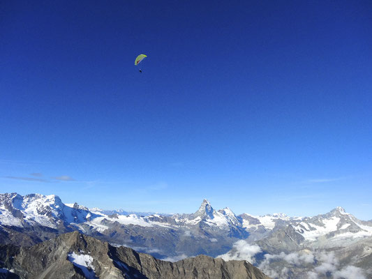 Hike & Fly, Wallis, Climb & Fly Wallis, Hochtouren und Fliegen im Wallis, Breithorn, Allalinhorn, Weißmies, Täschhorn, Dom, Duforspitze, hike & fly wallis,