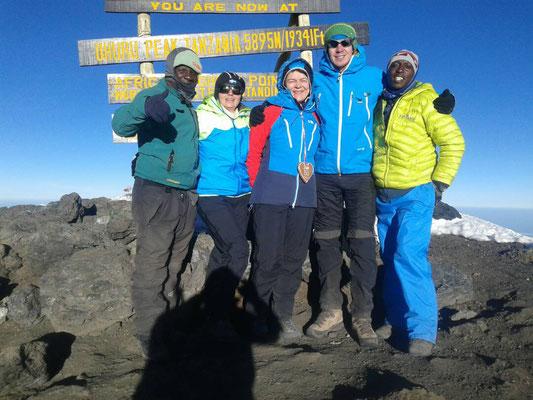 Gipfel Kilimanjaro 5.895 m