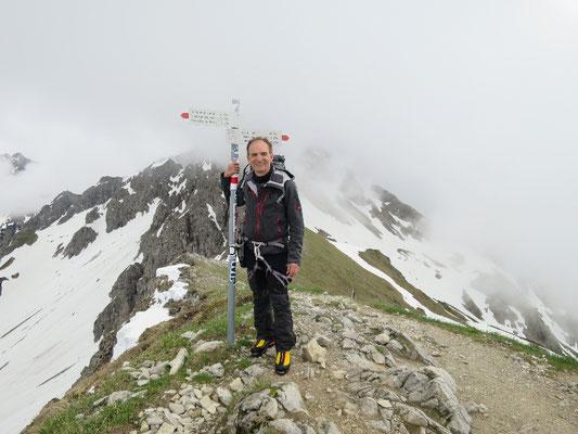Walser Klettersteig, Mindelheimer Klettersteig, Dreigipfel Tour, Fiderepass hütte, Schafalpenköpfe, Hammerspitze, Kleinwalsertal Tourismus, Oberstdorf Tourismus, Aktuelle Verhältnisse Mindelheimer Klettersteig