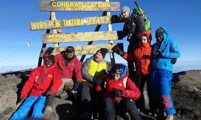 Kilimanjaro 100% Gipfelerfolg, Afrika, Machame