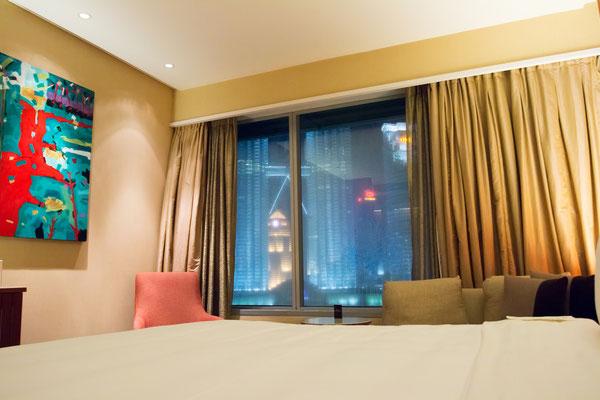 Zimmer mit super Blick auf die Twin Towers