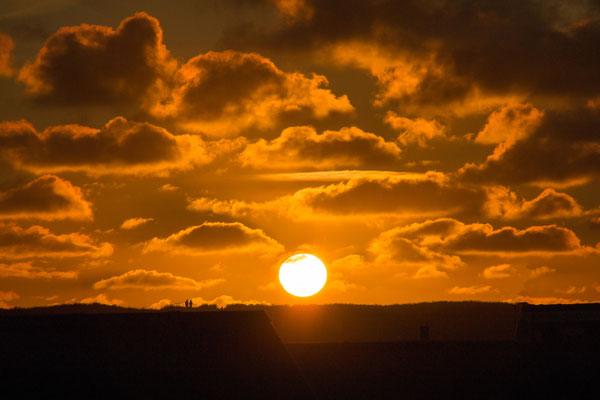 Sonnenuntergang in Bjerregard