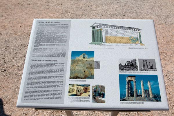Wie Forschungen ergaben, wurde die erste Tempelanlage um das Jahr 800 vor Christus auf dem Berg erbaut, es folgten Terrassen, eine große Säulenhalle sowie weitere Tempel und Burgen aus der römischen und byzantinischen Zeit sowie eine Burg der Johanniter.