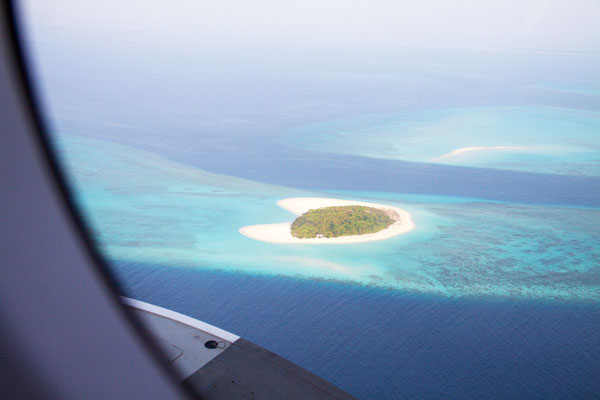 Blick aus dem Wasserflugzeug
