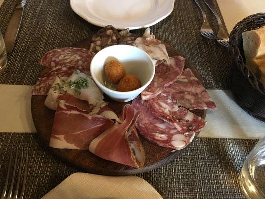 Dinner in Volterra