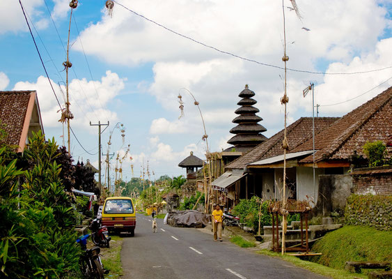 Typisches Dorf auf Bali