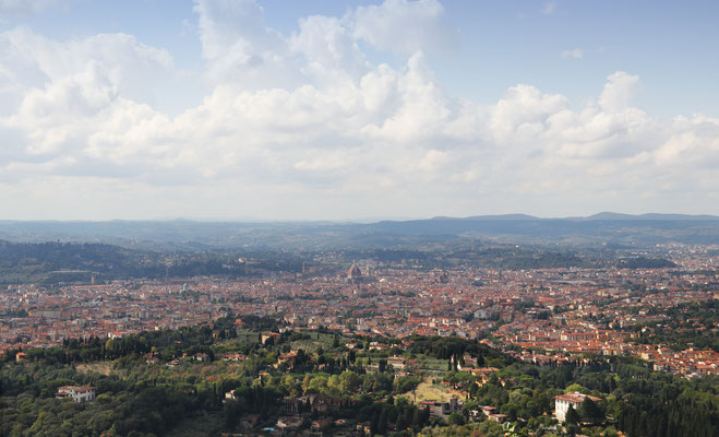 Fiesole - mit toller Panorama Aussicht.