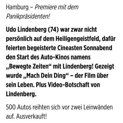 """Zum Eröffnungsfilm """"Lindenberg! Mach dein Ding!"""", kamen Regisseurin Hermine Huntgeburth, Produzent Michael Lehmann und weitere Gäste."""