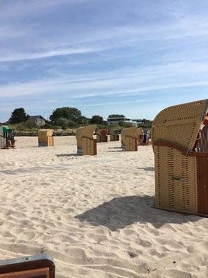 Strand in Pelzerhaken - der einzige Südstrand der Lübecker Bucht