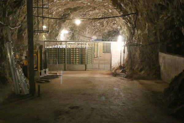 Hier lagert und reift der Arla Höhlenkäse